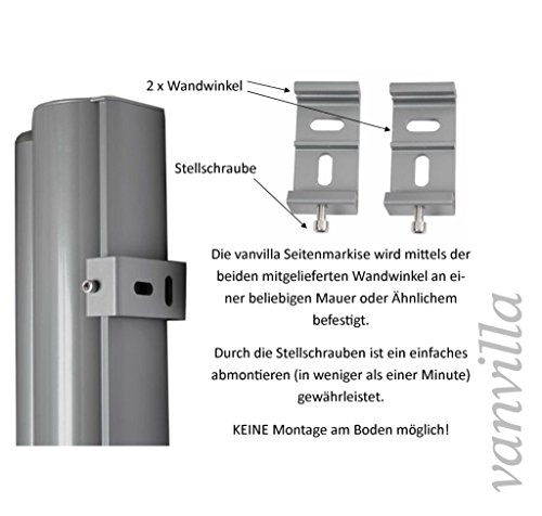 Vanvilla Seitenmarkise Anthrazit 200×300 cm - 2