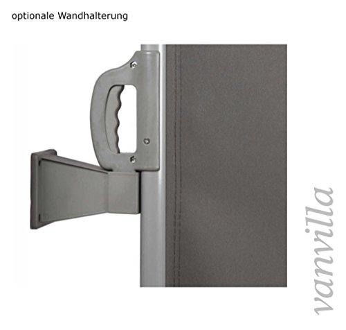 vanvilla Doppel Seitenmarkise Eck Markise Sichtschutz Windschutz Sonnenschutz Bordeaux 200×600 cm - 2