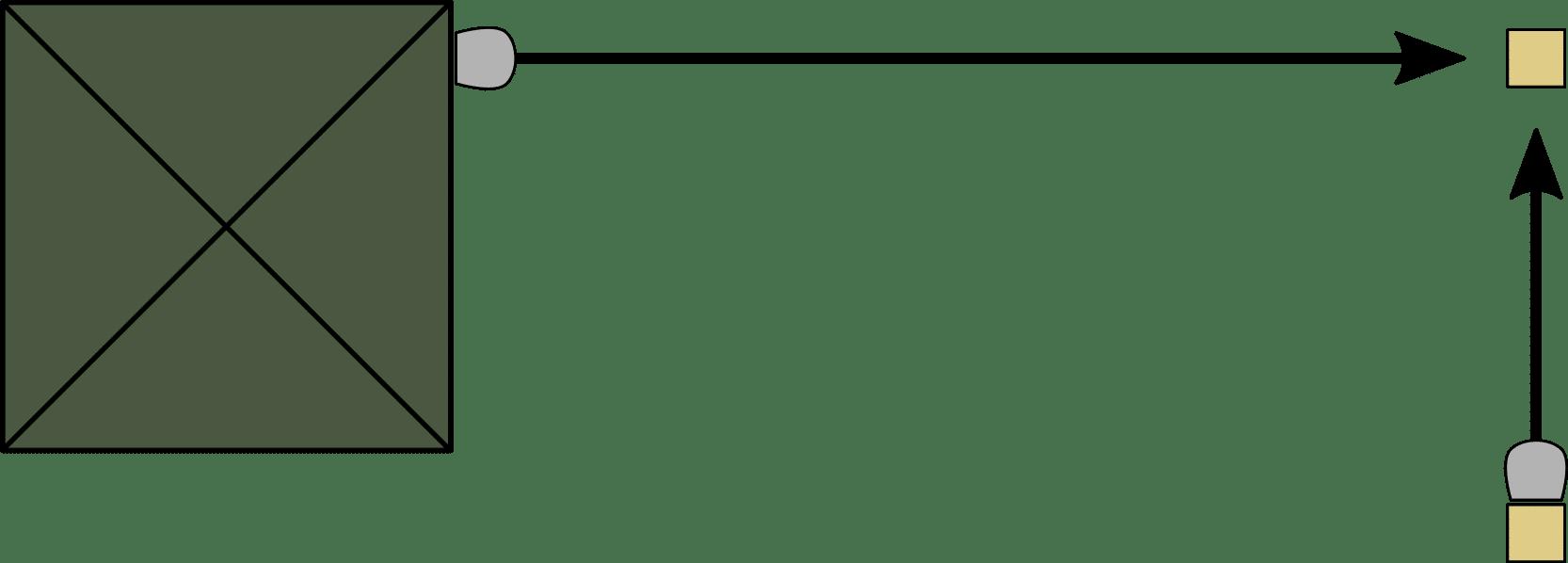 Seitenmarkise Eck-Lösung - Montage aus zwei
