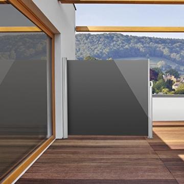 blumfeldt bari 316 seitenmarkise 300 x 160cm anthrazit. Black Bedroom Furniture Sets. Home Design Ideas