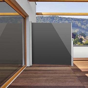 blumfeldt bari 318 seitenmarkise 300 x 180cm anthrazit. Black Bedroom Furniture Sets. Home Design Ideas