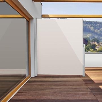 blumfeldt bari 320 seitenmarkise 300 x 200cm creme sand. Black Bedroom Furniture Sets. Home Design Ideas