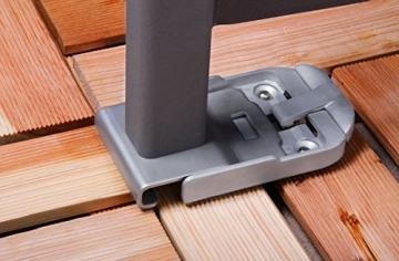 Seitenmarkise Bodenhalterung Bodenplatte