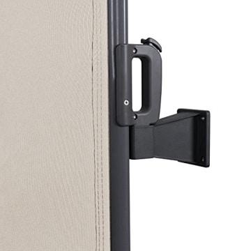 songmics seitenmarkise 200 x 300cm beige. Black Bedroom Furniture Sets. Home Design Ideas