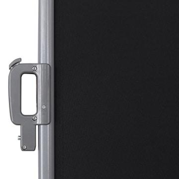 Songmics Doppel Seitenmarkise 160 x 600 cm verdickter Polyester 280 g/m² Seitenrollo Sichtschutz GSA320H - 5