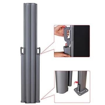 Songmics Doppel Seitenmarkise 160 x 600 cm verdickter Polyester 280 g/m² Seitenrollo Sichtschutz GSA320H - 7