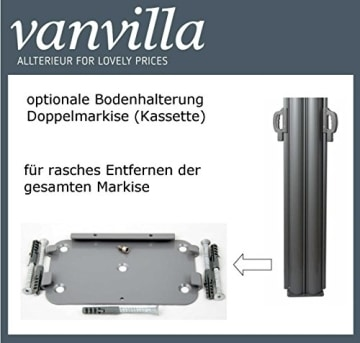 vanvilla Doppel Seitenmarkise Eck Markise Sichtschutz Windschutz Sonnenschutz Anthrazit 200x600 cm - 7