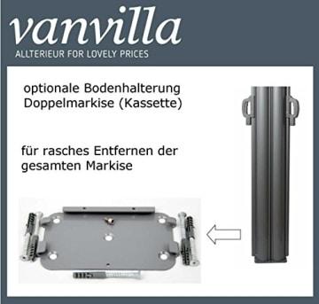 vanvilla Doppel Seitenmarkise Eck Markise Sichtschutz Windschutz Sonnenschutz Beige 180x600 cm - 7