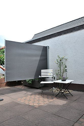 leco balkonmarkise 120 x 200 cm anthrazit. Black Bedroom Furniture Sets. Home Design Ideas
