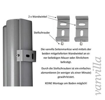 Vanvilla Seitenmarkise Sichtschutz Sonnenschutz Windschutz
