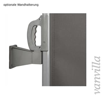vanvilla Seitenmarkise Sichtschutz Sonnenschutz Windschutz Markise Seitenwand Anthrazit 200x300 cm -